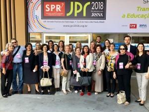 Na equipe da JPR 2018 (Jornada Paulista de Radiologia)